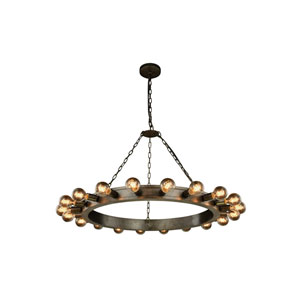Winston Aged Iron 40-Inch 20-Light Chandelier