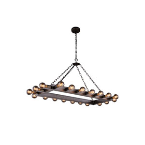Winston Aged Iron 50-Inch 20-Light Chandelier