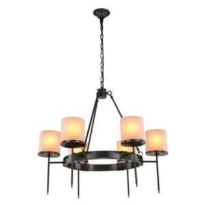 Bradford Bronze Six-Light Chandelier
