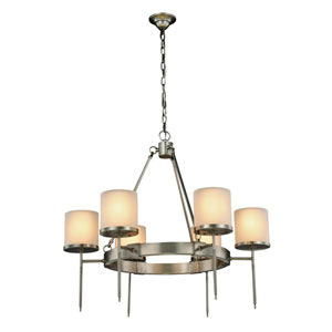 Bradford Vintage Nickel Six-Light Chandelier