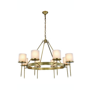 Bradford Burnished Brass Eight-Light Chandelier