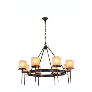 Bradford Bronze Eight-Light Chandelier