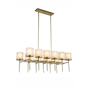 Bradford Burnished Brass Twelve-Light Chandelier