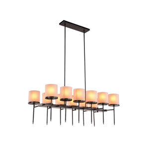 Bradford Bronze Twelve-Light Chandelier