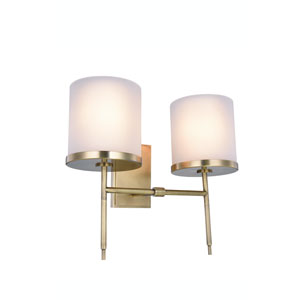 Bradford Burnished Brass Two-Light Wall Sconce