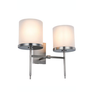 Bradford Vintage Nickel Two-Light Wall Sconce