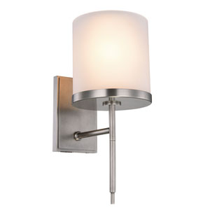 Bradford Vintage Nickel One-Light Wall Sconce