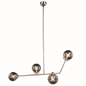 Leda Polished Nickel Four-Light Pendant