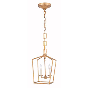 Denmark Golden Iron Two-Light Mini Pendant