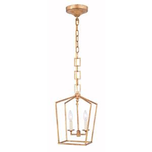 Denmark Golden Iron Two-Light Mini Pendant