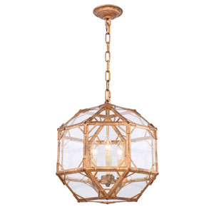 Gordon Golden Iron Three-Light Pendant