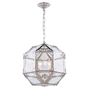 Gordon Polished Nickel Three-Light Pendant