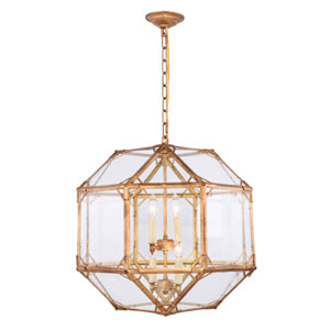 Gordon Golden Iron Four-Light Pendant