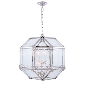 Gordon Polished Nickel Four-Light Pendant
