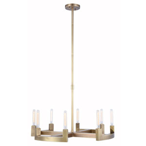 Corsica Burnished Brass 32-Inch Eight-Light Chandelier