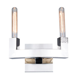 Corsica  Polished Nickel Two-Light Wall Sconce