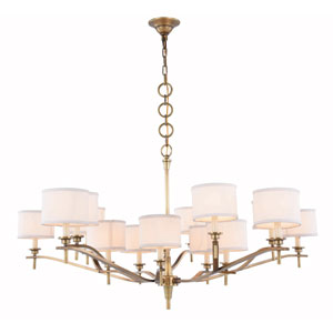 Segovia Burnished Brass 15-Light Chandelier