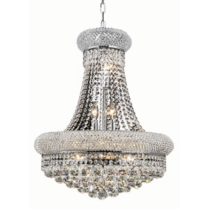 Primo Chrome Fourteen-Light 20-Inch Chandelier with Royal Cut Clear Crystal