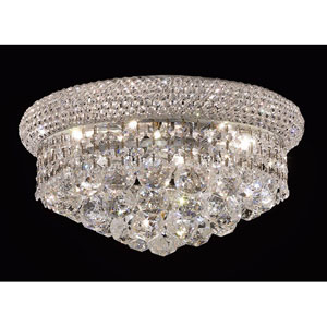 Primo Chrome Six-Light Flush Mount with Royal Cut Clear Crystal