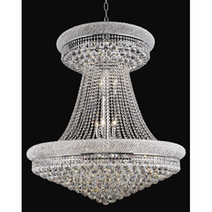 Primo Chrome Twenty-Eight Light Chandelier with Royal Cut Clear Crystal