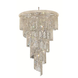 Spiral Chrome 29-Light Chandelier with Swarovski Strass/Elements Crystal