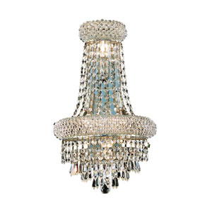Primo Prism Chrome Four-Light 18-Inch Wall Sconce with Royal Cut Clear Crystal