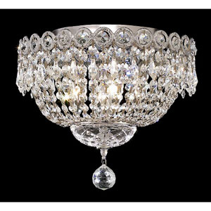 Century Chrome Four-Light 12-Inch Flush Mount with Royal Cut Clear Crystal