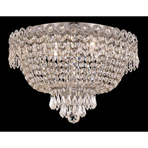Century Chrome Four-Light 16-Inch Flush Mount with Royal Cut Clear Crystal