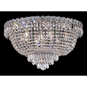 Century Chrome Nine-Light 20-Inch Flush Mount with Royal Cut Clear Crystal
