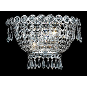 Century Chrome Two-Light 12-Inch Wall Sconce with Royal Cut Clear Crystal