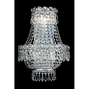 Century Chrome Three-Light 12-Inch Wall Sconce with Royal Cut Clear Crystal