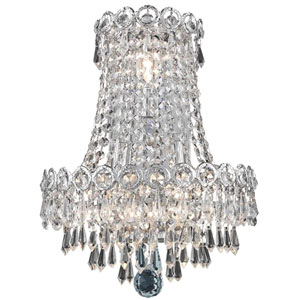 Century Prism Chrome Three-Light 17-Inch Wall Sconce with Royal Cut Clear Crystal
