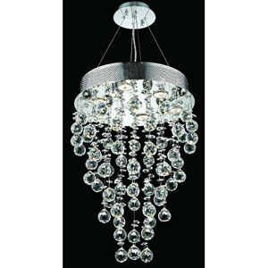 Galaxy Chrome Seven-Light 16-Inch Semi Flush Mount with Royal Cut Clear Crystal