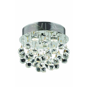 Galaxy Chrome Three-Light Flush Mount with Royal Cut Crystal