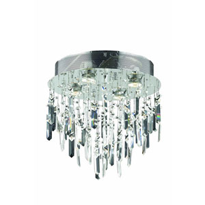 Galaxy Royal Cut Crystal Chrome Four Light 14-in Flush Mount Fixture