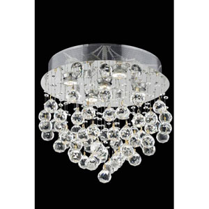 Galaxy Swarovski Strass Crystal Chrome Five Light 16-in Flush Mount Fixture