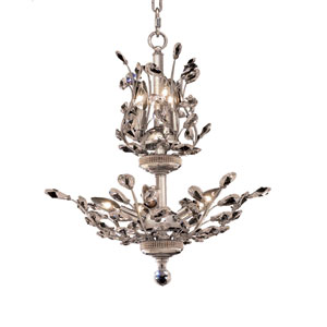 Orchid Chrome Eight-Light 21-Inch Chandelier with Royal Cut Clear Crystal