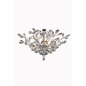 Orchid Chrome Flush Mount with Royal Cut Crystal