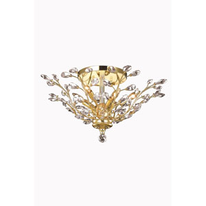 Orchid Gold Flush Mount with Royal Cut Crystal