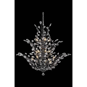 Orchid Dark Bronze 18-Light Chandelier with Royal Cut Crystal