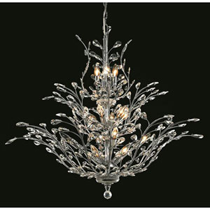 Orchid Chrome Chandelier with Royal Cut Crystal