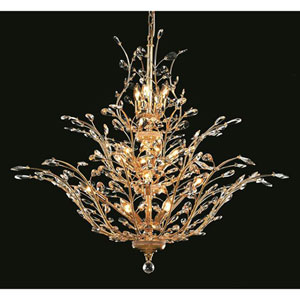 Orchid Gold Chandelier with Royal Cut Crystal