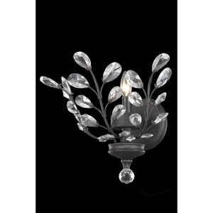 Orchid Dark Bronze One-Light Wall Sconce with Royal Cut Crystal