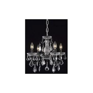 St. Francis Dark Bronze Six-Light Chandelier with Clear Elegant Cut Crystals