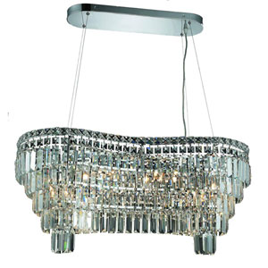 Maxim Chrome Fourteen-Light 16-Inch Island Pendant with Royal Cut Clear Crystal