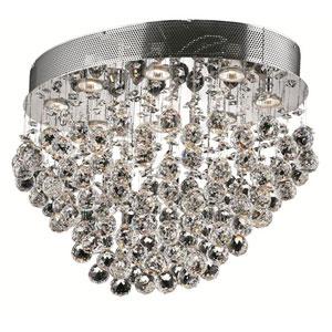 Galaxy Chrome Eight-Light 16-Inch Flush Mount with Royal Cut Clear Crystal