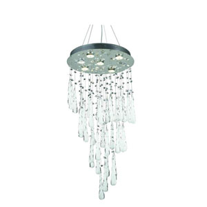 Comet Royal Cut Crystal Chrome Six Light 36-in Chandelier