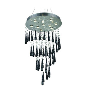 Comet Royal Cut Crystal Chrome 10 Light 36-in Chandelier