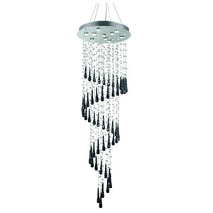 Comet Royal Cut Crystal Chrome 10 Light 72-in Chandelier
