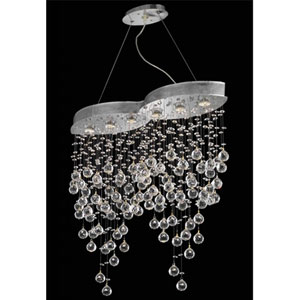 Galaxy Chrome Six-Light Chandelier with Clear Royal Cut Crystals